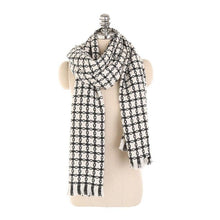 Load image into Gallery viewer, LaMaxPa 2018 New Fashion Winter Plaid Scarf For Women/Lady Warm Wool Pashmina Shawls For Dress Long Tassel Female Wraps Capes - ladystreets