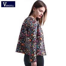 Load image into Gallery viewer, Vangull 2018 New Spring Botanical Jacket Autumn Basic Jacket for Women Multicolor Collarless Elegant Jackets and Coats Feminina