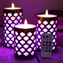 Load image into Gallery viewer, Dancing Flame Pillar Led Wax Candle With RGB Remote,Electric Candle Night light for kids living room,Home Decor. - ladystreets