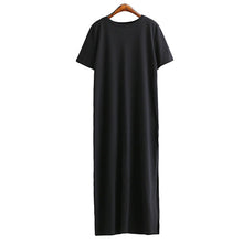 Load image into Gallery viewer, Maxi T Shirt Dress Women Summer Dresses Casual Beach Sexy Boho Vintage Bandage Elegant Bodycon Black Long Sundress Plus Size