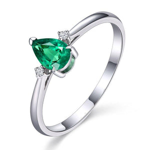 Anillos Yuzuk High Quality 925 Sterling Silver Green Gemstone Rings For Women Engagement Wedding Party Finger Ring Fine Jewelry - ladystreets