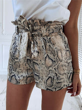 Load image into Gallery viewer, Summer Fashion Animal Snake Print High Waist Shorts Women Casual Loose Short Biker Shorts Mujer Beach Hot - ladystreets