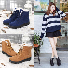 Load image into Gallery viewer, Women Boots Plus Size 44 Snow Boot For Women Winter Shoes Heels Winter Boots Ankle Botas Mujer Warm Plush Insole Shoes Woman - ladystreets
