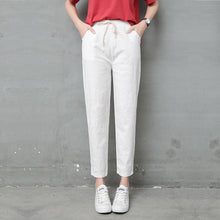 Load image into Gallery viewer, Women pants Casual Solid Spring Summer Cotton Linen Lady Ankle -length Capris Trousers Pencil Pants S-XXL - ladystreets