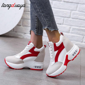 women sneakers shoes for women Platform Shoes Women Breathable Height Increasing Shoes Trainers Sneakers Woman zapatillas mujer - ladystreets