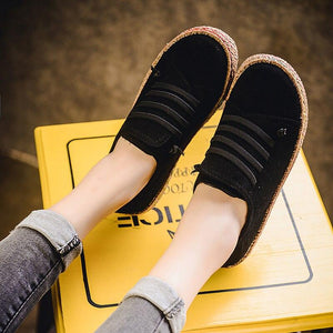New Spring Women Flats Shoes Loafers Round Toe Wide Shallow Slip-on Casual Lady Flats Shoes Oxford Shoes For Women - ladystreets