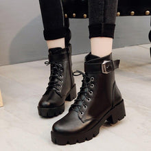 Load image into Gallery viewer, Fashion Leather Martins Boots Woman shoes Winter Warm Lace-up Ankle Boots For Woman High Quality Waterproof Platform Boots 78 - ladystreets