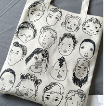 Load image into Gallery viewer, Canvas Tote Bag For Women Fashion Handbags Eco Reusable Cloth Shopping Bag Student School Bags Ladies Casual Shopper Bag - ladystreets