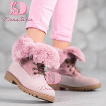Load image into Gallery viewer, DoraTasia Brand New INS Hot Ladies Chunky Heels Ankle Boots Fashion Winter Warm Fur Snow Boots Women 2020 Casual Shoes Woman - ladystreets