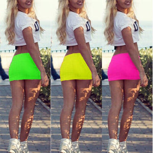 Women Sexy Short Mini Skirt Slim Tight Short Fitted Women Mini Bodycon Skirt Cocktail Clubwear Sexy Stretch Tube Pencil Short - ladystreets