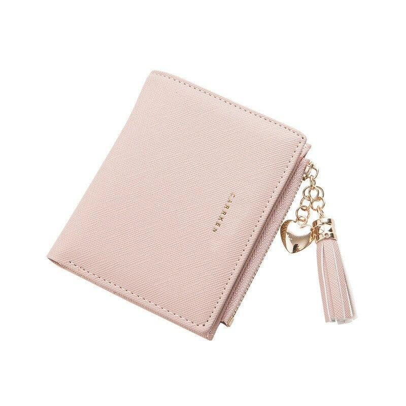 Tassel Women Wallet Small Cute Wallet Women Short Leather Women Wallets Zipper Purses Portefeuille Female Purse Clutch - ladystreets