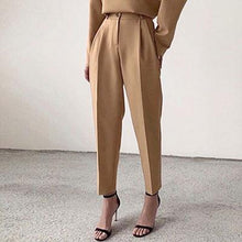 Load image into Gallery viewer, OOTN Casual High Waist Khaki Pants Women Summer Spring Brown Ladies Office Trousers Zipper Pocket Solid Female Pencil Pants 2020 - ladystreets
