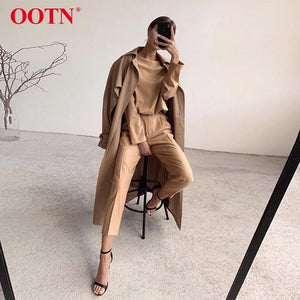 OOTN Casual High Waist Khaki Pants Women Summer Spring Brown Ladies Office Trousers Zipper Pocket Solid Female Pencil Pants 2020 - ladystreets