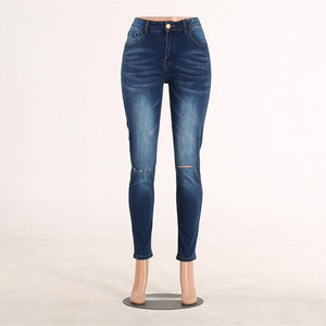 High Waist Skinny Ripped Jeans push up Denim Jeans Boyfriend Jeans For Women Plus Size Pencil Pants Vintage Stretch Mom Jeans - ladystreets