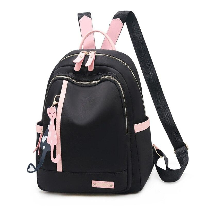 Hawaii Style Brand 2020 PINK BLACK Backpacks For School Teenagers Girls Bags Fashion Women Travel Back Pack - ladystreets