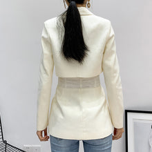 Load image into Gallery viewer, TWOTWINSTYLE Patchwork White Women's coats Lapel Collar Long Sleeve Tunic jackets For Female Autumn 2020 Fashion Clothing Tide