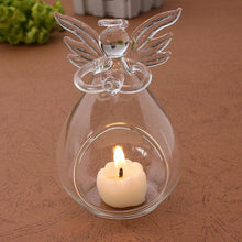 Load image into Gallery viewer, Angel Glass-Crystal Hanging Tea Light Candle Holder Home Decor Candlestick - ladystreets