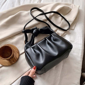Tote Bags For Women 2020 Vintage Handbags Solid Color Summer Crossbody Shoulder Bag Lady Cloud Pouch Female Soft Leather Clutch - ladystreets