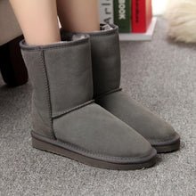Load image into Gallery viewer, MBR FORCE Fashion Women Boots Winter Warm leather suede winter snow boots for women real Mid-Calf Boots winter for Girl's shoes - ladystreets