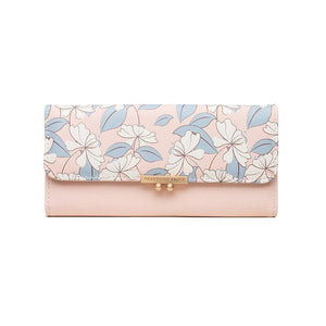 New Arrival Sweet Fashion Printing Women's Wallet Ladies Long Section Coin Purch PU Wallet Card Package - ladystreets