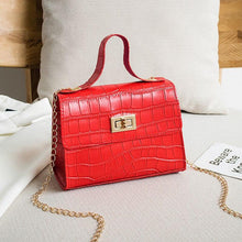 Load image into Gallery viewer, PU Fashion Women Bags 2020 Summer New Crocodile Pattern Handbag Shoulder Messenger Chain Lock Small Square Bag Wholesale - ladystreets
