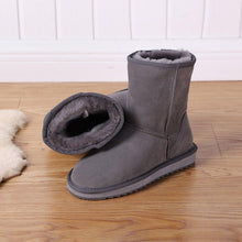 Load image into Gallery viewer, MBR FORCE 2020 Australia classic new Winter Snow Boots for Women Cowhide Suede Leather Mid-calf Slip on Shearling women's Boots - ladystreets