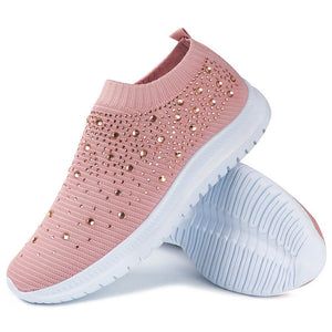 Vulcanized Shoes Women Sneakers Fashion Bling Sock Sneakers Ladies Trainers Slip on Casual Shoes Tenis Feminino Zapatillas Mujer - ladystreets