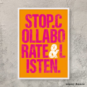 STOP COLLABORATE (orange)