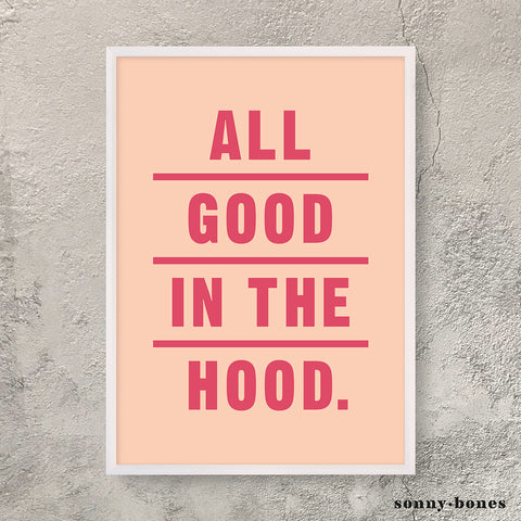 GOOD IN THE HOOD (coral/red)