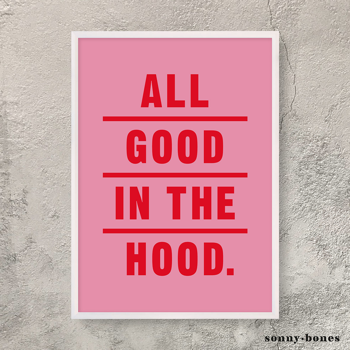 GOOD IN THE HOOD (pink/red)