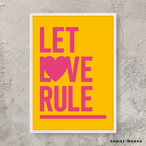 LET LOVE RULE (pink/yellow)