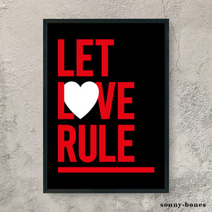 LET LOVE RULE (red/black)