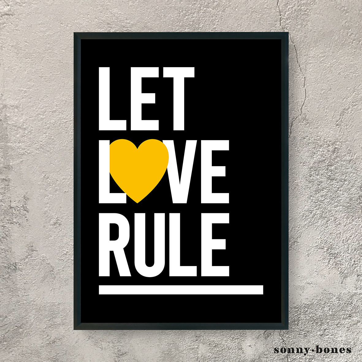 LET LOVE RULE (white/black/yellow)