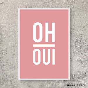OH OUI (white/coral)