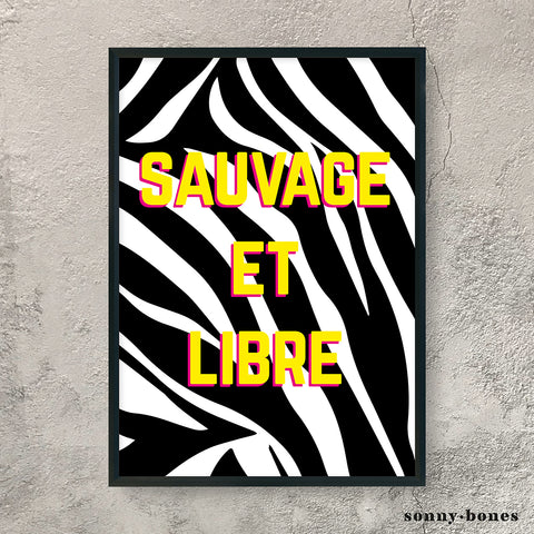 SAUVAGE ET LIBRE (yellow)
