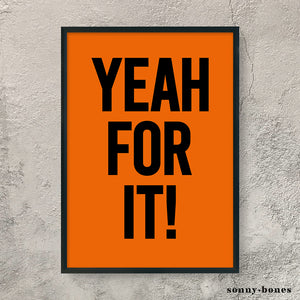 YEAH FOR IT! (black/orange)