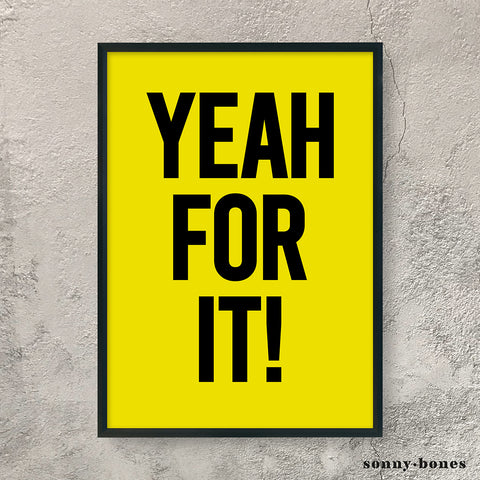 YEAH FOR IT! (black/yellow)