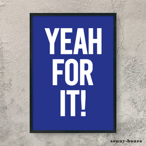 YEAH FOR IT! (white/blue)