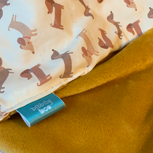 Silly Sausage dog Dimple Blanket - Cream
