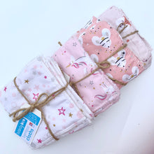 Load image into Gallery viewer, Pink Unicorn - Bamboo Cloths - 7 Pack