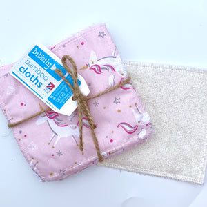 Pink Unicorn - Bamboo Cloths - 7 Pack