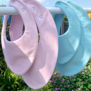 Any 5 Plain Colour Bibs for Baby (Save 18%)
