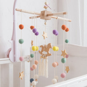 Nordic Baby Mobile Horse Hanging Cot Decor