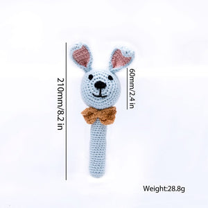 Animal Handheld Knitted Rattle
