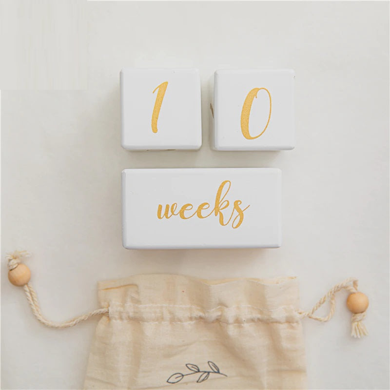 Baby Wooden Milestone Blocks