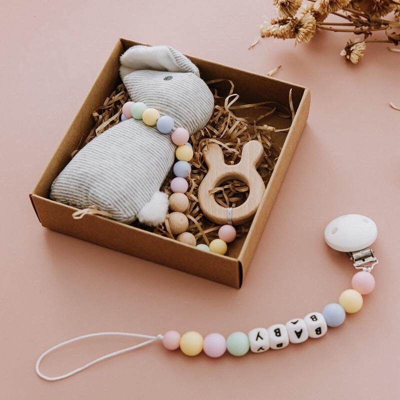 Bunny Rattle Dummy Chain Set