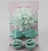 Load image into Gallery viewer, Baby Elastic Flower Headband (3pcs Set)