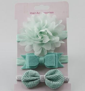 Baby Elastic Flower Headband (3pcs Set)