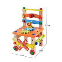 Load image into Gallery viewer, Children's Wooden Assembling Toys (Chair)