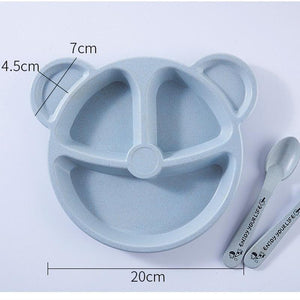 Baby Feeding Set - Cartoon Bear - Baby Castle Australia